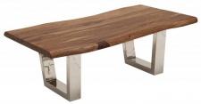 Casa Padrino Designer Massivholz Sheesham Couchtisch Natur Braun 110 x H. 40 cm - Salon Wohnzimmer Tisch