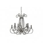 Casa Padrino Barock Decken Kronleuchter Silber Durchmesser 75 x H 141 cm Antik Stil - Möbel Lüster Leuchter Deckenleuchte Hängelampe