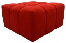 Casa Padrino Luxus Hocker / Sitzhocker Rot 90 x 90 x H. 50 cm - Wohnzimmermöbel