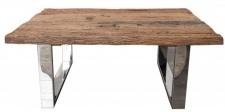 Casa Padrino Designer Massivholz Couchtisch Natur 110 x H. 45 cm - Salon Wohnzimmer Tisch