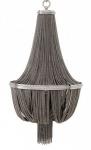 Casa Padrino Luxus Kronleuchter - Luxus Hängeleuchte Nickel Durchmesser 54 x H 104 cm