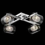Casa Padrino Barock Decken Kronleuchter Chrom 58 x H 18 cm Modern Stil - Möbel Lüster Leuchter Hängeleuchte Hängelampe
