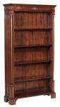 Casa Padrino Luxus Barockstil Bücherschrank / Regalschrank Braun 103 x 32 x H. 185, 5 cm - Barock Wohnzimmermöbel