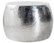 Casa Padrino Luxus Couchtisch Silber 60 cm Aluminium - Wohnzimmer Salon Tisch - Unikat