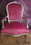 Casa Padrino Barock Salon Stuhl Rosa/Silber - Barock Antik Stil Möbel