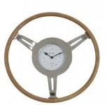 Casa Padrino Designer Luxus Uhr Steering Ø 46 cm x 5 cm Nickel - Tischuhr