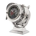 Casa Padrino Designer Luxus Tisch Uhr Royal Marine - Eyecatcher Seefahrer Uhr