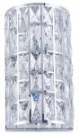 Casa Padrino Luxus Wandleuchte Silber 19, 3 x 12, 5 x H. 35, 1 cm - Elegante Wandlampe mit Kristallglas