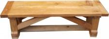 Casa Padrino Luxus Massivholz Sitzbank 150 cm für Esstisch Eiche Massiv - Schwere Ausführung