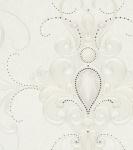 Harald Glööckler Designer Barock Vliestapete 58558 - Ornamente mit Strasssteinen - Beige / Creme
