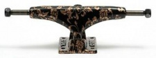 Crail Skateboard Achsen Set 129 LOW LIGHT Pattern Flowers bronze/schwarz (2 Achsen)
