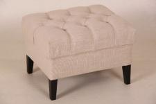 Casa Padrino Designer Sitzhocker Chesterfield Beige Rechteckig 60 x 50 cm Sitzhöhe 42cm Hocker