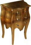 Casa Padrino Barock Kommode Gold H 70 cm, B 50 cm Mod2 - Nachttisch Schrank mit 3 Schubladen