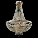 Casa Padrino Barock Kristall Decken Kronleuchter Weiß Gold 50 x H 65 cm Antik Stil - Möbel Lüster Leuchter Deckenleuchte Hängelampe
