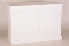 Casa Padrino Shabby Chic Landhaus Stil Theken Schrank Weiß B 140 H 99 cm Theke Ladentheke Ladeneinrichtung