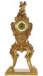 Casa Padrino Barock Standuhr Gold 21 x 13 x H. 50 cm - Kleine prunkvolle Massivholz Standuhr mit Engel