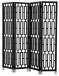 Casa Padrino Mahagoni Raumteiler in piano schwarz 200 x H. 225 cm - Luxus Qualität