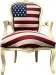 Casa Padrino Barock Salon Stuhl USA Design / Creme