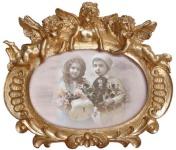 Casa Padrino Barock Bilderrahmen 19, 5 x 17 cm Gold - Bilder Rahmen Foto Rahmen Jugendstil Antik Stil Mod AX28