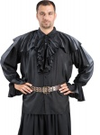 Half Cape Piraten Shirt - Black