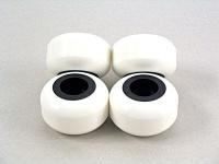 50mm Blank Wheels Dual D Weiß/Schwarz