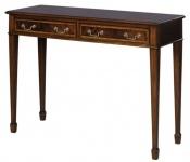 Casa Padrino Jugendstil Mahagoni Konsole Braun 102, 5 x 36, 3 x H. 78, 6 cm - Luxus Jugendstil Konsolentisch mit 2 Schubladen