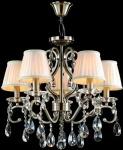 Casa Padrino Barock Kristall Decken Kronleuchter Bronze 56 x H 51 cm Antik Stil - Möbel Lüster Leuchter Hängeleuchte Hängelampe