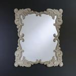 Casa Padrino Barock Wandspiegel Antik Stil Creme 92 x 110 cm - Barocker Spiegel Antikweiß