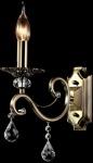 Casa Padrino Barock Kristall Wandleuchte Bronze 12 x H 39 cm Antik Stil - Wandlampe Wand Beleuchtung