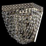 Casa Padrino Barock Wandleuchte Nickel 17 x H 16, 5 cm Antik Stil - Wandlampe Wand Beleuchtung