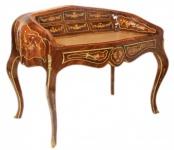 Casa Padrino Luxus Barock Schreibtisch Mahagoni Sekretär 120 cm Französischer Stil - Antik Stil