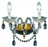 Casa Padrino Barockstil Kristall Wandleuchte Gold 35 x 32 x H. 25 cm - Barockmöbel & Accessoires