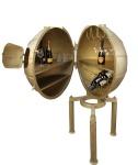 Casa Padrino Luxus Metall Getränke Bar Gold - Weinregal - Flaschenablage