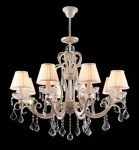 Casa Padrino Barock Kristall Decken Kronleuchter Cream Gold 81 x H 74 cm Antik Stil - Möbel Lüster Leuchter Hängeleuchte Hängelampe