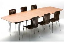 Casa Padrino Designer Konferenztisch Nussbaum / Chrom Ausziehbar 170-270 cm - Designer Tisch Esstisch