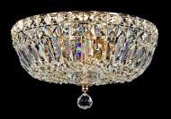 Casa Padrino Barock Kristall Decken Kronleuchter Gold 30 x H 20.5 cm Antik Stil - Möbel Lüster Leuchter Hängeleuchte Hängelampe