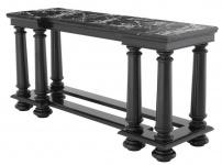 Casa Padrino Luxus Konsolentisch in schwarz mit schwarzer Marmorplatte 160 x 50 x H. 79 cm - Limited Edition