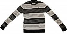 Hurley Skateboard Pullover Black/White Stripes Sweater 1 B Ware