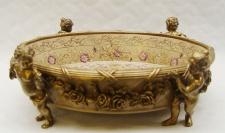 Casa Padrino Luxus Barock Porzellan Schale Durchmesser 31, 5 x H. 12 cm