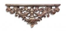 Casa Padrino Designer Barock Wandkonsole Antik Silber 46 x 11, 6 x H.18, 6 - Hotel Möbel