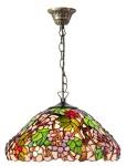 Casa Padrino Luxus Tiffany Hängeleuchte Mehrfarbig Ø 40 cm - Handgefertigte Pendelleuchte aus 729 Teilen