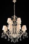 Casa Padrino Barock Kristall Decken Kronleuchter Cream Gold 85 x H 93 cm Antik Stil - Möbel Lüster Leuchter Hängeleuchte Hängelampe