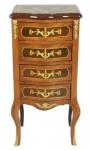 Casa Padrino Barock Kommode Mahagoni mit 4 Schubladen Mod2 - Handgefertigt aus Massivholz