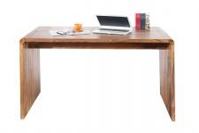 Casa Padrino Designer Schreibtisch Massivholz 150 cm - Sekretär Konsole - Computertisch