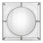 Casa Padrino Luxus Deko Wand Spiegel Art Deco 92 x 92 cm Messing vernickelt - Antik Stil Spiegel convex - Wandspiegel - Luxus Hotel Möbel Collection