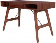 Casa Padrino Luxus Rosenholz Schreibtisch mit Schublade Braun 120 x 60 x H. 76 cm - Luxus Büromöbel