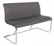 Casa Padrino Designer Sitzbank Grau / Silber Breite 130 cm, Höhe 85 cm