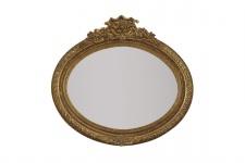 Casa Padrino Barock Wandspiegel 100 x H. 70 cm - Luxus Spiegel