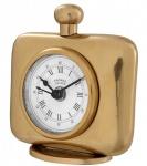 Casa Padrino Vintage Luxus Tischuhr Goldfarben Messing - Edel & Prunkvoll - Tisch Uhr