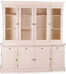 Casa Padrino Shabby Chic Landhaus Stil Schrank Buffetschrank 6-türig Antikstil Weiß mit 4 Schubladen - Schrank Esszimmer